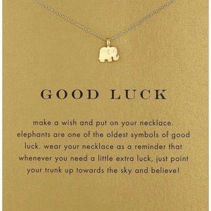 Gold Elephant Pendant Necklace
